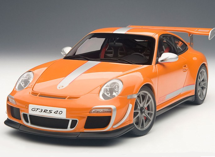 modellauto porsche 911 997 gt3 rs 4 0 orange 1 18 autoart. Black Bedroom Furniture Sets. Home Design Ideas