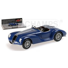 Minichamps Model car Alfa Romeo 6C 2500 SS Corsa Spider 1939 blue 1:43 | Minichamps