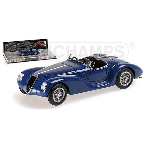 Modelauto Alfa Romeo 6C 2500 SS Corsa Spider 1939 blauw 1:43 | Minichamps