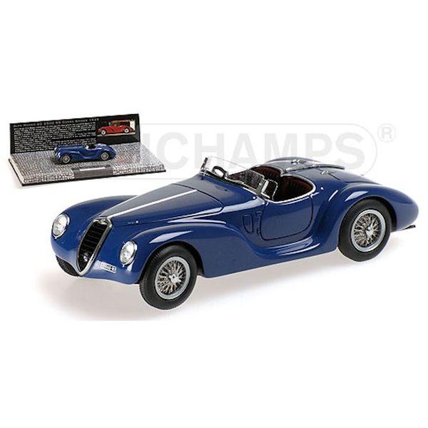 Modellauto Alfa Romeo 6C 2500 SS Corsa Spider 1939 blau 1:43