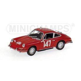 Minichamps Modelauto Porsche 911 No. 147 1965 rood 1:43 | Minichamps