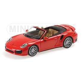 Minichamps Modellauto Porsche 911 Turbo S Cabriolet 2013 rot 1:43 | Minichamps