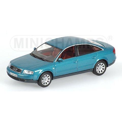 Model car Audi A6 1997 blue green metallic 1:43 | Minichamps