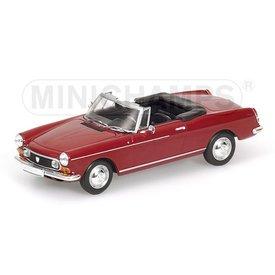 Minichamps Modelauto Peugeot 404 Cabriolet 1962 rood 1:43 | Minichamps