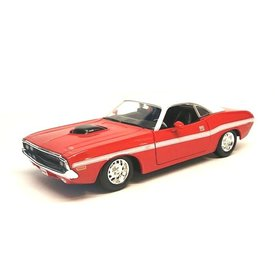 Maisto Modellauto Dodge Challenger R/T Coupe 1970 rot/weiß 1:24 | Maisto
