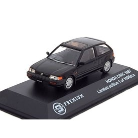 Triple 9 Collection Model car Honda Civic 1987 black 1:43 | Triple 9 Collection