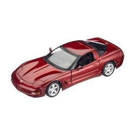 Bburago Modelauto Chevrolet Corvette 1997 rood metallic 1:18 | Bburago
