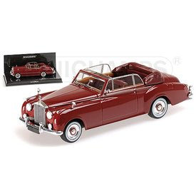 Minichamps Model car Rolls Royce Silver Cloud II Cabriolet 1960 red 1:43 | Minichamps