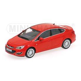 Minichamps Modelauto Opel Astra 4-door 2012 rood 1:43 | Minichamps