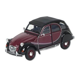 Welly Modellauto Citroën 2CV 6 Charleston rot/schwarz 1:24 | Welly