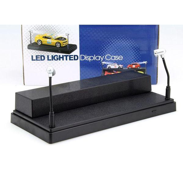 Vitrine met LED verlichting voor modelauto's in schaal 1:24 & 1:43