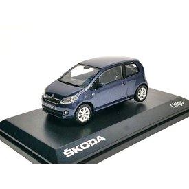 Abrex Modellauto Skoda Citigo 3-Türer blau metallic 1:43 | Abrex