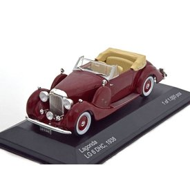 WhiteBox Modelauto Lagonda LG6 Drophead Coupe 1938 donkerrood 1:43 | WhiteBox