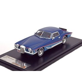 Premium X Model car Stutz Blackhawk Coupe 1971 blue 1:43 | Premium X