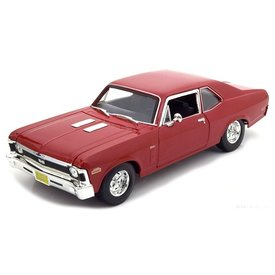 Maisto Modelauto Chevrolet Nova SS 1970 rood 1:18 | Maisto