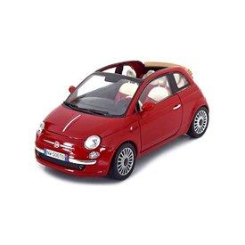 Motormax Modelauto Fiat Nuova 500 Cabrio rood 1:18 | Motormax