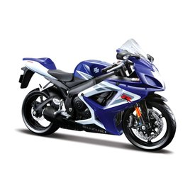 Maisto Modell-Motorrad Suzuki GSX-R 750 blau/weiß 1:12