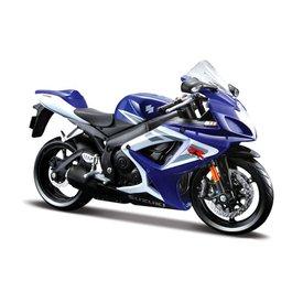 Maisto Modelmotor Suzuki GSX-R 750 blauw/wit 1:12 | Maisto