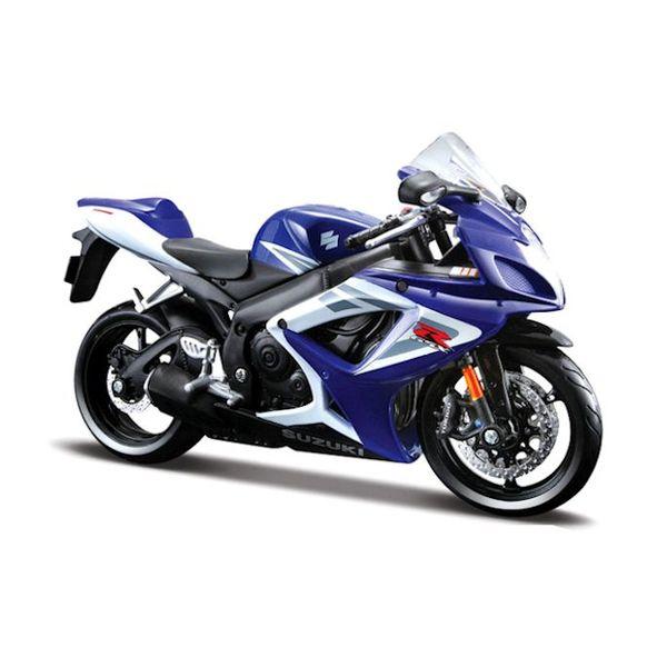 Modell-Motorrad Suzuki GSX-R 750 blau/weiß 1:12