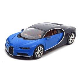 Bburago Modellauto Bugatti Chiron blau/schwarz 1:18 | Bburago