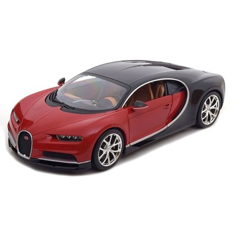 model car bugatti chiron red black 1 18. Black Bedroom Furniture Sets. Home Design Ideas