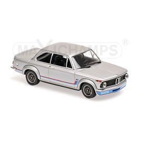 Maxichamps Modelauto BMW 2002 Turbo 1973 zilver 1:43 | Maxichamps