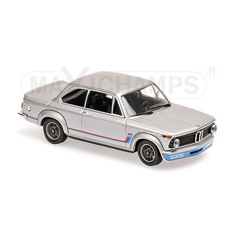 Model car BMW 2002 Turbo 1973 silver 1:43 | Maxichamps