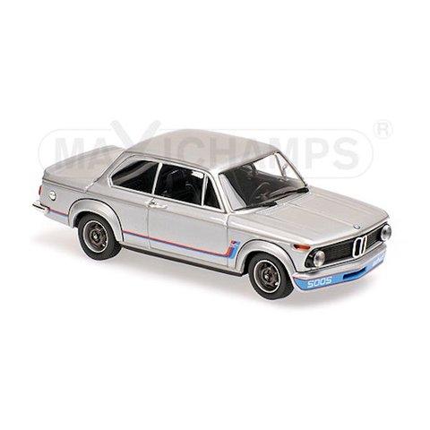 Modelauto BMW 2002 Turbo 1973 zilver 1:43 | Maxichamps