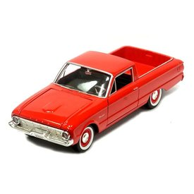 Motormax Modelauto Ford Ranchero 1960 rood 1:24 | Motormax