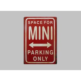 Parking Sign Mini 20x30 cm rood / wit