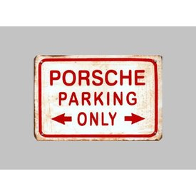 Parking Sign Porsche 20x30 cm