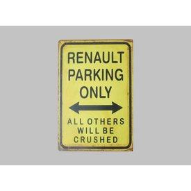 Parking Sign Renault 30x40 cm