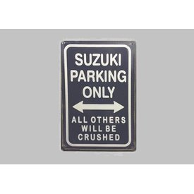 Parking Sign Suzuki 20x30 cm donkerblauw / wit