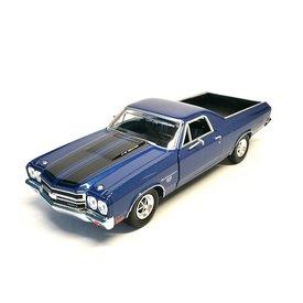 Motormax Modelauto Chevrolet El Camino SS 396 blauw 1:24 | Motormax