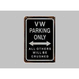 Parking Sign VW 20x30 cm