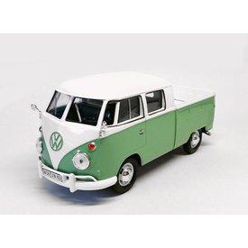 Motormax Modelauto Volkswagen VW T1 pick-up groen/wit 1:24 | Motormax