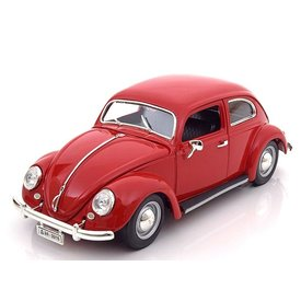 Bburago Modelauto Volkswagen VW Kever 1955 rood 1:18 | Bburago