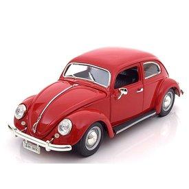 Bburago Modellauto Volkswagen VW Käfer 1955 rot 1:18 | Bburago