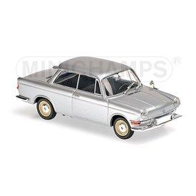 Maxichamps Modelauto BMW 700 LS 1960 zilver 1:43 | Maxichamps