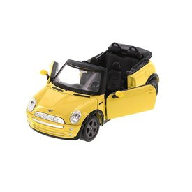 Maisto Modelauto Mini Cooper Cabriolet 2011 geel 1:24 | Maisto