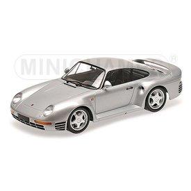 Minichamps Modelauto Porsche 959 1987 zilver 1:18 | Minichamps