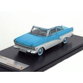 Premium X Modelauto Ford Taunus 17M 1957 blauw/wit 1:43 | Premium X