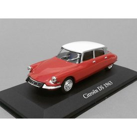 Atlas Modelauto Citroën DS 1963 rood/wit 1:43 | Atlas