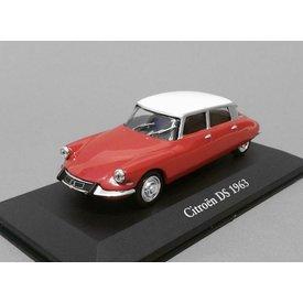 Atlas Modellauto Citroën DS 1963 rot/weiß 1:43 | Atlas