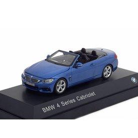 I Scale Modelauto BMW 4 Serie Cabriolet (F33) 2013 blauw metallic 1:43 | I Scale