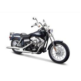 Maisto Modelmotor Harley Davidson FXDBI Dyna Street Bob 2006 donkerblauw 1:12 | Maisto