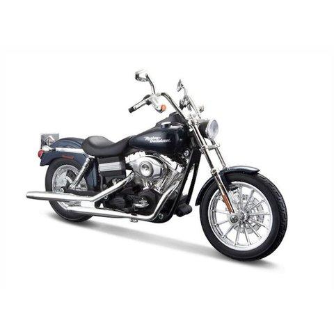 Modell-Motorrad Harley Davidson FXDBI Dyna Street Bob 2006 dunkelblau 1:12 | Maisto