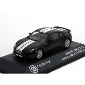 Triple 9 Collection Model car Subaru BRZ 2013 black with white stripes 1:43 | Triple 9 Collection