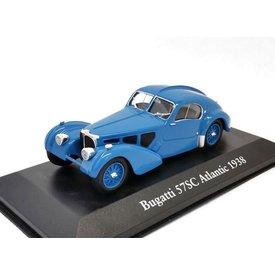 Atlas Modelauto Bugatti 57SC Altlantic 1938 blauw 1:43 | Atlas