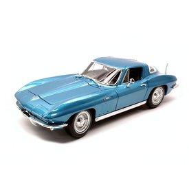 Maisto Modelauto Chevrolet Corvette 1965 blauw metallic 1:18 | Maisto